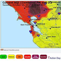 @Regranned from @deeripper -  Bay Area Air Quality is off the charts due to fires. Stay safe my people. #bayarea #airquality #airqualityindex #fire #napa #winecountry #unhealthy #veryunhealthy #aqi - #regrann