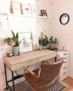 Bohemian Office - Each of us has different needs and material . - Bohemian Office – Each of us has different needs and material options, but different tastes and ho - Home Office Bedroom, Home Office Design, Home Office Decor, Bedroom Ideas, Bedroom Designs, Modern Bedroom, At Home Office Ideas, Rustic Office Decor, Vintage Office Decor