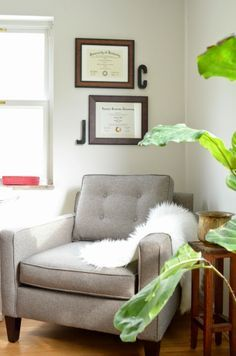 clever ways to display college diploma | Displaying Diplomas in our Office, Modern Chair More