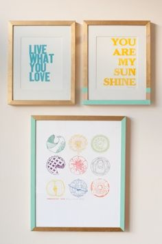 DIY Painted Frame Gallery Wall