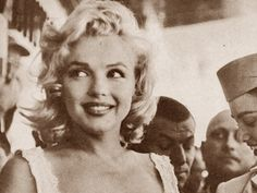 The laughter penetrates my silence Marilyn