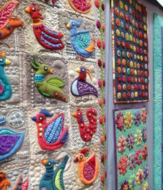 Sue Spargo embellished quilts.  2014 Spring Quilt Market, photo by All People Quilt