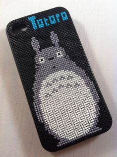 My second case! Totoro iPhone 4/4S Cross Stitched Silicone Case. $50.00, via Etsy.