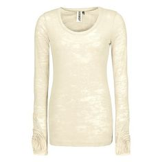 BKE Burnout Thermal Top ($28) ❤ liked on Polyvore
