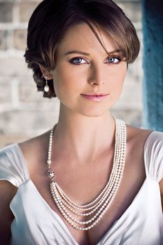 Great Gatsby Freshwater Pearl Necklace / wedding by NicoleWinkler