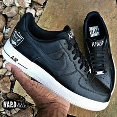 """#TBT Anybody who knows @d3djbull know he's a huge #NWA fan, so I made these """" Custom NWA Air Force Ones"""" to show my appreciation to one of…"""