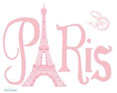 Paris with Love Paris Typography wall decor Vintage by EEartstudio