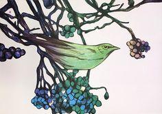 «Bærplukkeren». 6.900 kr ink ramme, 4.900 eks ramme.   Flickr Types Of Art, Norway, Fine Art, Somerset, Painting, Cool Art, Plants, Ink, Design