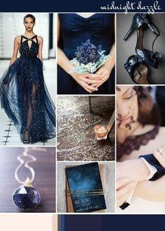 Midnight Dazzle: Wedding Inspiration   Colour Ideas - Wedding Inspiration & Ideas