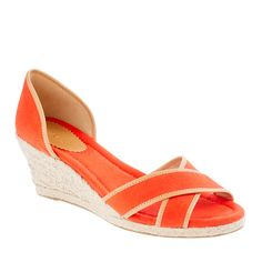 Red espadrille.  So cheerful.