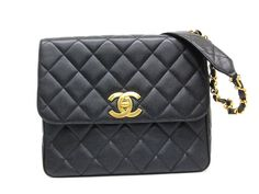 #Chanel Matelasse Chain Shoulder Bag Caviar Skin Black (BF067490). Authenticity guaranteed, free shipping worldwide & 14 days return policy. Shop more #preloved brand items at #eLADY: http://global.elady.com