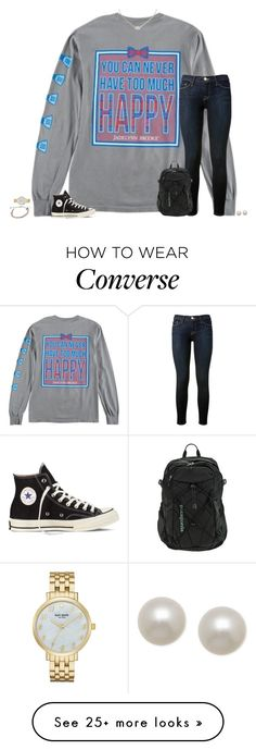 """love is an open door❤️"" by secfashion13 on Polyvore featuring Frame Denim, Converse, Kendra Scott, Patagonia, Pura Vida, Kate Spade, Honora, women's clothing, women and female"