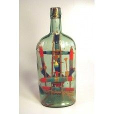 866 - Cross and Religious Symbols in Bottle