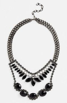 Nordstrom 'Lady Lux' Stone Bib Statement Necklace