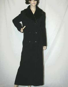 Nicole Fahri Designer Black Cashmere Wool Long Coat Size 8 uk Womens Listing in the Karen Millen,Designer,Clothes, Shoes, Accessories Category on eBid United Kingdom