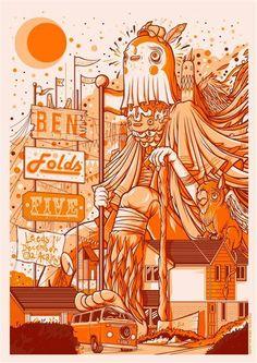Ben Folds Five poster by Drew Millward, via GigPosters.com