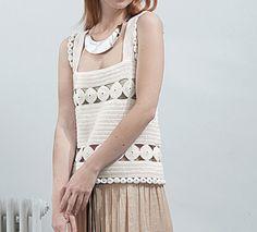 Modèle top rétro au crochet femme - Modèles Gratuits Femme - Phildar