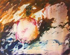 صبا گلباز اكرليك روى بوم  Saba Golbaz Acrylic on canvas
