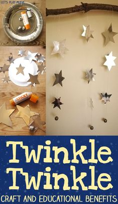 Twinkle Twinkle Little Star - with easy mobile craft &  educational benefits for 0 - 5 years.