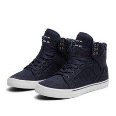 SUPRA SKYTOP | SLATE BLUE - WHITE | Official SUPRA Footwear Site