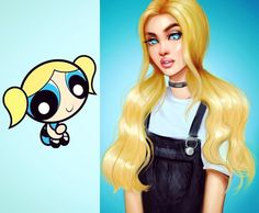 Bubbles all grown up!💙 She was my favorite as a kid #90s #powerpufftheworld