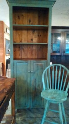 Beautiful Blues handcrafted from reclaimed pine ..aged authentic milkpaint finish rustic refined!