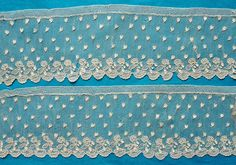 93 ins antique/vintage early 19th c Alencon needle lace  in Antiques, Fabric/ Textiles, Embroidery | eBay