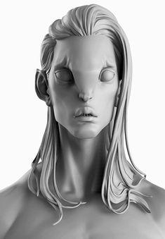 Creature - bust, Taissia ABDOULLINA on ArtStation at https://www.artstation.com/artwork/creature-bust-3c6ae8d5-0183-42c0-be2b-18354411c526