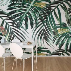 Wall mural home decor wall wallpaper, wall murals и tropical Wallpaper Roll, Wall Wallpaper, Wallpaper Online, Cheap Kitchen Makeover, Tropical Wallpaper, Tropical Decor, Tropical Prints, Designers Guild, Kitchen Layout
