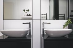 RTA Studio and Trinity Interior Design create an inner-city that enjoys the views of Auckland's most iconic built and natural landscapes. Portland Apartment, Bathroom Basin, New Builds, New Homes, Urban, Interior Design, Auckland, City, Bathrooms