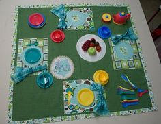 How to.... do something: How to make a tea party play-mat