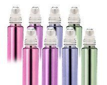 6ml mixed pastel colors roller ball glass inside for oils or perfume