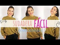 Tutorial SUDADERA oversize, muy fácil y sin patrones!! | DIY de costura B. Blue DIY Costura Diy, Winter Dresses, Sewing Tutorials, Diy Clothes, Couture, Tote Bag, Hobbies, Cosplay, Fashion