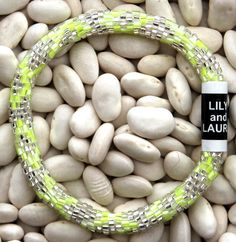 Neon Yellow with Silver - Lily and Laura Bracelets
