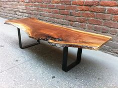 SOLD - BEAUTIFUL Highly Figured, Black Walnut Live Edge Coffee Table on Etsy, $575.00