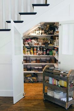 Under Stairs Pantry Ikea Shelves Rod And Hooks Make My Own