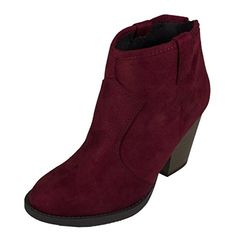 Lustacious Women's Almond Toe Cowboy Pull Up Tab Ankle Bootie with Back Zipper, wine faux suede, 5.5 M US Soda http://www.amazon.com/dp/B015RZYSAK/ref=cm_sw_r_pi_dp_fiWbwb1H7Z1TP