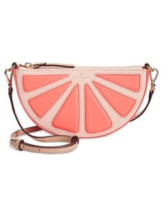 """kate spade new york's punchy purse doubles as a delightful crossbody that can also be carried as a clutch in a pinch. 