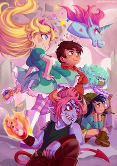 Star vs the Forces of Evil best cartoon ever ! my favorite ! Arte Disney, Disney Art, Cartoon Shows, Cartoon Art, Fanart, Star E Marco, Princess Star, Space Princess, Star Force