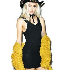 For Love & Lemons Camilla Knit Mini Dress