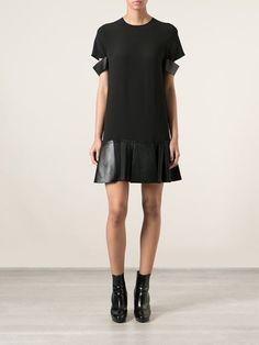 Neil Barrett Vestido Com Recortes Em Couro De Seda - Degli Effetti Women - Farfetch.com