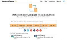 DocumentCyborg. Transformer une page web en un document