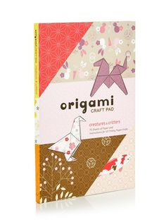 Creatures & Critters Origami Craft Pad Pink (R175)
