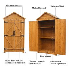 MCombo Outdoor Wooden Storage Cabinet Backyard Garden Shed Tool Sheds Utility Organizer with Lockable Double Doors 1000 (Natural) >>> (paid link) You can get additional details at the image link.
