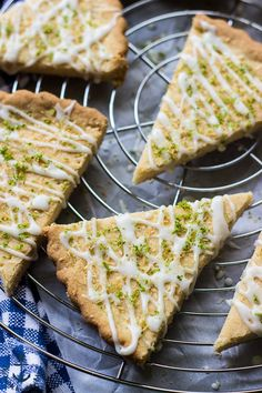 This Gluten Free Lime Coconut Shortbread is rich and buttery with the tangy taste of lime and the sweet, subtle taste of coconut. Gf Recipes, Gluten Free Recipes, Baking Recipes, Cookie Recipes, Vegetarian Recipes, Dessert Recipes, Savoury Recipes, Gluten Free Sweets, Gluten Free Baking