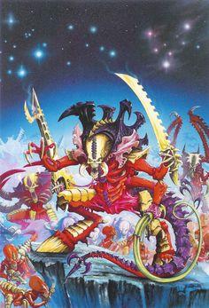 Tyranids Codex cover artwork by Dave Gallagher Warhammer 40k Codex, Warhammer 40k Tyranids, Warhammer Paint, Space Fantasy, Fantasy Art, Fantasy Miniatures, Fantasy Illustration, Geek Art, Military Art