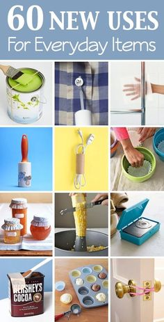New Uses For Everyday Items.Lots of creative new uses for things you probably already have laying around your New Uses For Everyday Items.Lots of creative new uses for things you probably already have laying around your house! Diy Hacks, Home Hacks, Cleaning Hacks, Cleaning Supplies, Trick 17, 1000 Lifehacks, Genius Ideas, Making Life Easier, Idee Diy