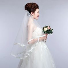 Find More Bridal Veils Information about High Quality Lace Edge Single Layer Wedding Lace Veils Ivory 2015 Wedding Veil Best Selling New Arrival  Bridal Accessories ,High Quality veil cathedral,China veil for wedding dress Suppliers, Cheap accessori from beata1210 on Aliexpress.com