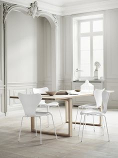 25 of the coolest dining chairs - Vogue Living - Fritz Hansen 'Sammen' chair from Cult Vogue Living, Interior Architecture, Interior And Exterior, Interior Design, Color Interior, Simple Interior, Design Interiors, Diy Interior, Interior Modern