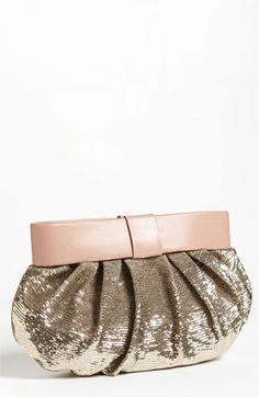RED Valentino - 'Bow' Sequin Clutch